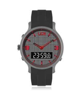 UPWATCH DOUBLE GUN METAL RED