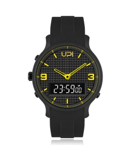 UPWATCH DOUBLE BLACK&YELLOW