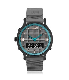 UPWATCH DOUBLE STEEL BLACK GUN METAL