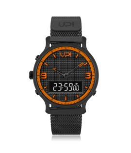 UPWATCH DOUBLE STEEL BLACK ORANGE