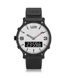 UPWATCH DOUBLE STEEL BLACK WHITE