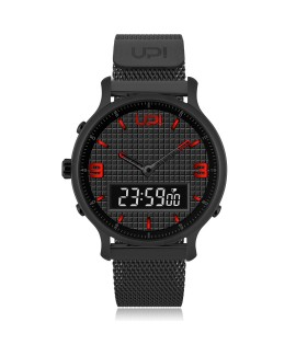 UPWATCH DOUBLE STEEL BLACK&RED