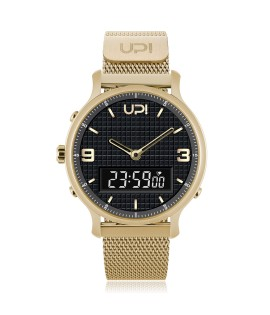 UPWATCH DOUBLE STEEL GOLD BLACK  - DB.02.02