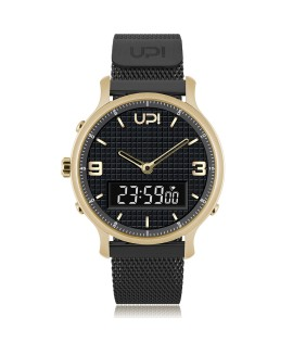 UPWATCH DOUBLE STEEL GOLD BLACK