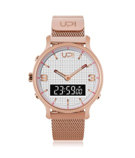 UPWATCH DOUBLE STEEL ROSE WHITE