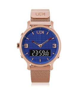 UPWATCH DOUBLE STEEL ROSE&BLUE