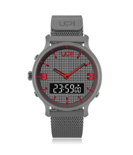 UPWATCH DOUBLE STEELGUN METAL RED