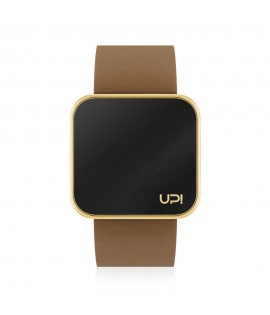 UPWATCH TOUCH SLIM SHINY GOLD & BROWN