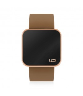 UPWATCH TOUCH SLIM SHINY ROSE GOLD & BROWN