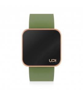 UPWATCH TOUCH SLIM SHINY ROSE GOLD & GREEN