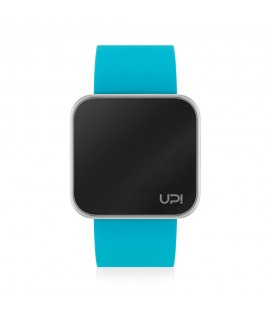 UPWATCH TOUCH SLIM SHINY SILVER & TURQUOISE