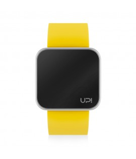 UPWATCH TOUCH SLIM SHINY SILVER & YELLOW