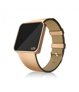 UPWATCH TOUCH SLIM Shiny Rose Gold Leather